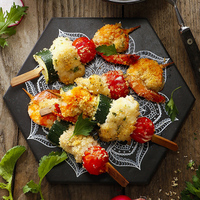 Brochettes de poisson gratinées