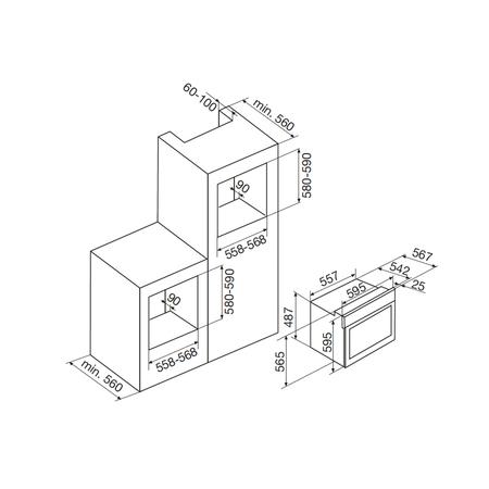 Dessin technique Fours catalyse - AFSC53BKT - Airlux