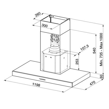 Dessin technique Inox - AHB1280IX - Airlux