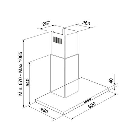 Dessin technique Inox - AHBF670IX - Airlux