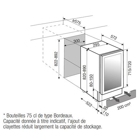 Dessin technique Porte inox / carrosserie en tôle noire - ARCAV20 - Airlux