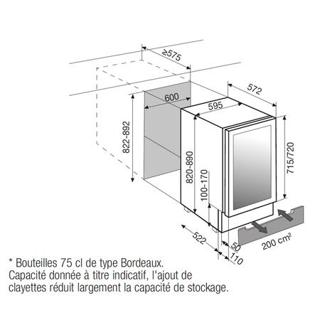 Dessin technique Porte inox / carrosserie en tôle noire - ARCAV54 - Airlux