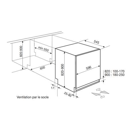 Dessin technique Intégrable - ART131A - Airlux